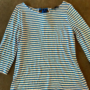 The Limited Outback Red striped top XL blue white